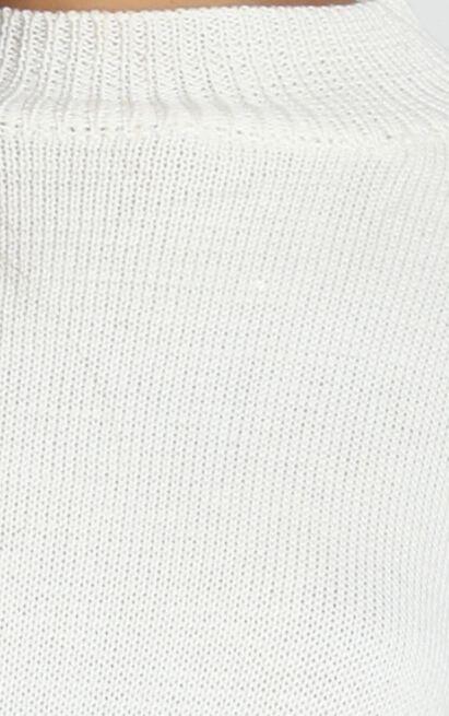 Denver Knit Jumper in ivory - S/M, White, hi-res image number null