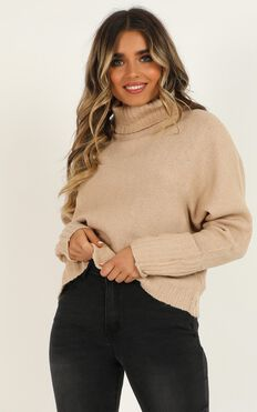 Lifting Responsibility Jumper In Camel