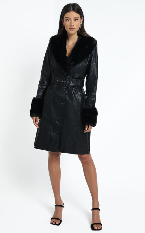 Lioness - Brooklyn Long Coat in Black