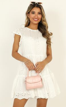 All The Rumours Dress In White Lace