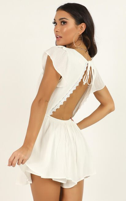 Fortunate Love Playsuit in white - 20 (XXXXL), White, hi-res image number null