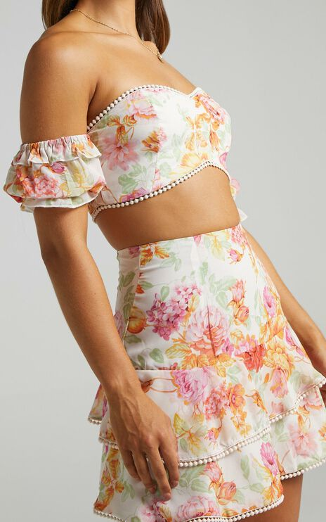 Final Resort Two Piece Set in Romantic Floral