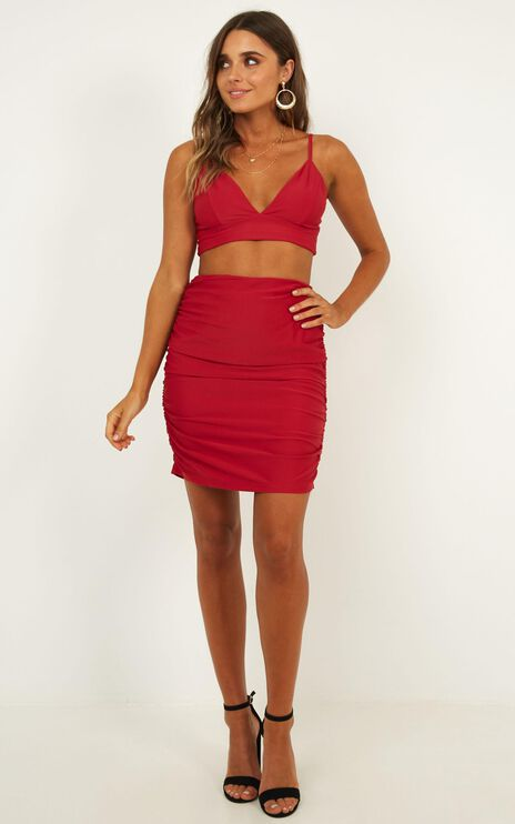 Beneath The Sky Two Piece Set In Red