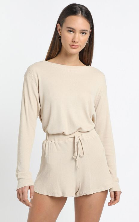 Kallan Top in Beige
