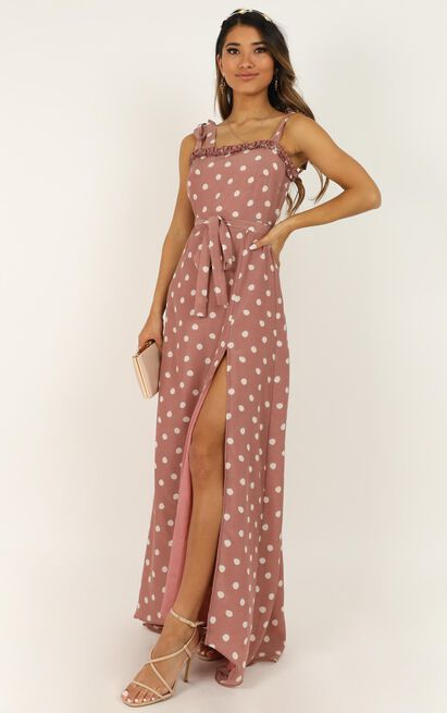 Got To Be Certain dress in rose spot - 20 (XXXXL), Pink, hi-res image number null
