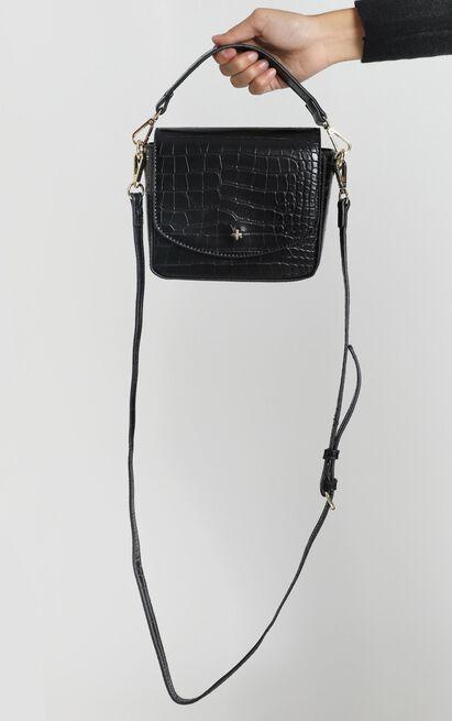 Peta and Jain - Camryn Crossbody Bag In Black Croc, , hi-res image number null