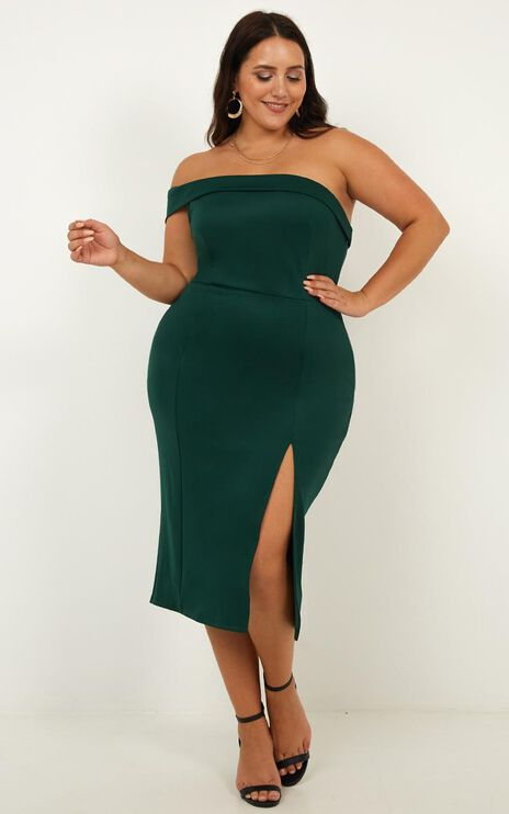 Everyday With You Dress In Emerald