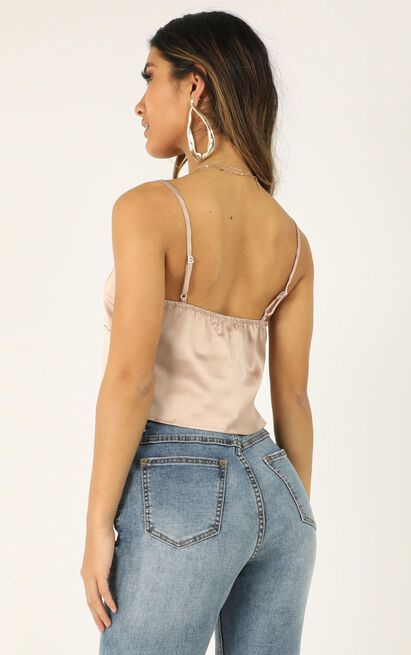 Let It Be Known top in blush satin - 12 (L), Blush, hi-res image number null