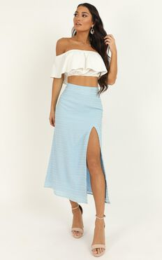 Unfold Me Skirt In Blue