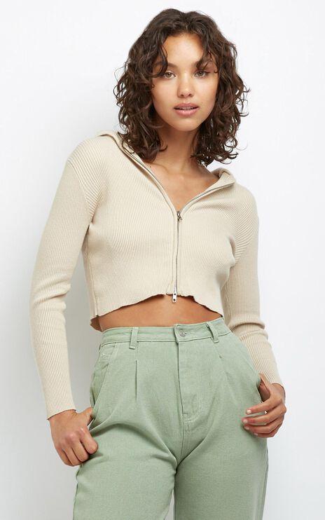Devora Knit Hoodie in Cream