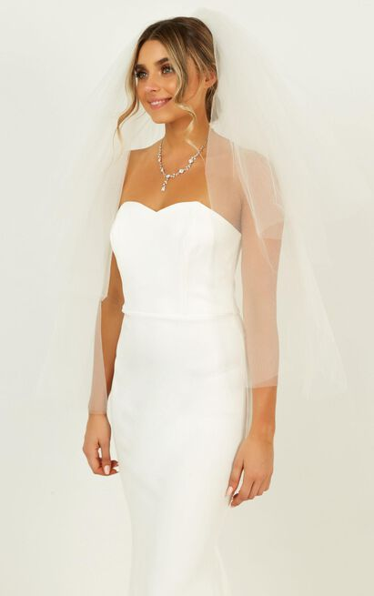 Feel The Love Veil In Ivory, White, hi-res image number null