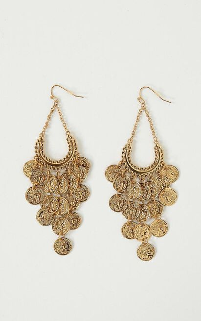 Edge Of Town Earrings In Gold, , hi-res image number null