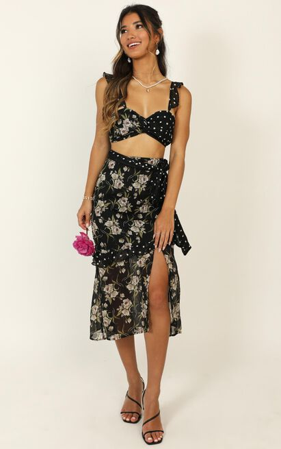 Take My Picture Dress in black floral - 20 (XXXXL), Black, hi-res image number null