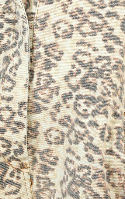 Do It Denim Romper in leopard print - 12 (L), Brown, hi-res image number null