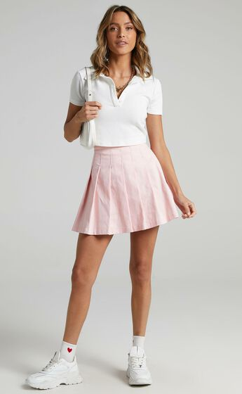 Cailin Pleated Skirt in Pink