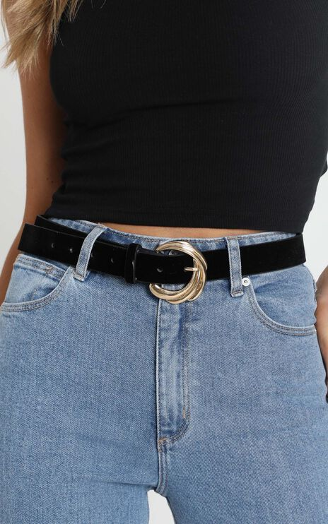 Allura Belt in Black and Gold