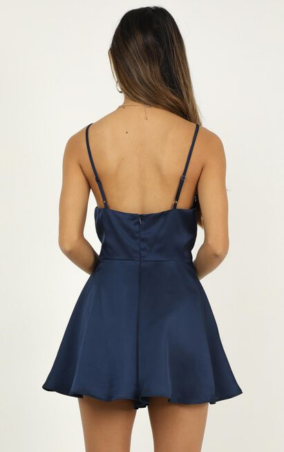 Shes Got This Playsuit In navy satin - 20 (XXXXL), Navy, hi-res image number null