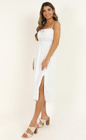 Speaking Fondly Dress In White