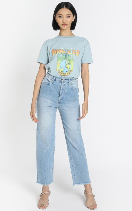 Wrangler - High Voltage Tee in Sky Blue