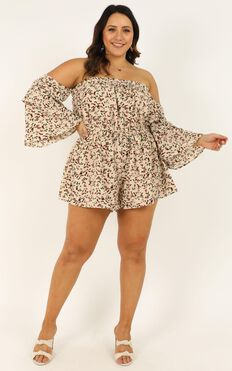 Myths And Legends Playsuit In Cream