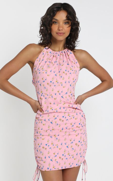 Dancing On The Stage Dress in pink floral
