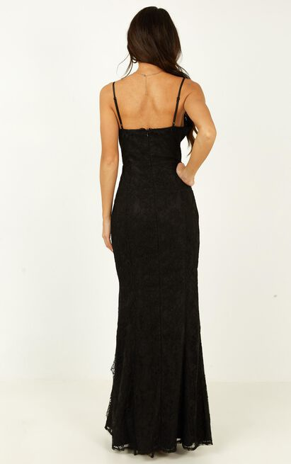 Stay Flow Dress in black lace - 20 (XXXXL), Black, hi-res image number null