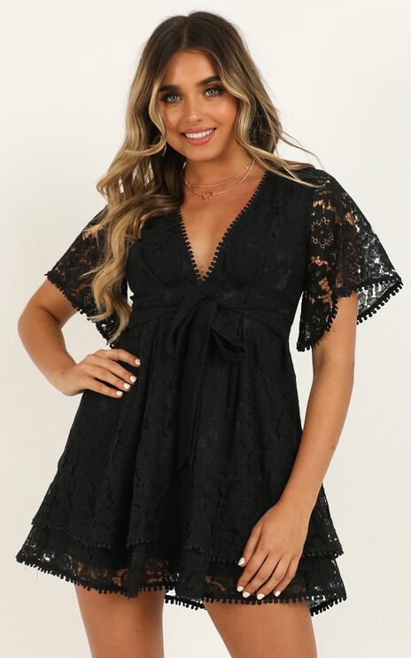 Do You Miss Me Dress In Black Lace