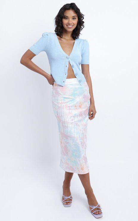 Chamberlain Skirt in Pink Tie Dye