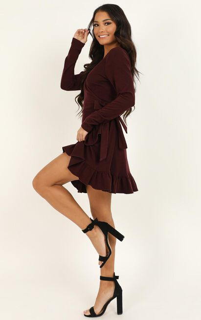 Eyes Talk Dress in wine - 20 (XXXXL), Wine, hi-res image number null