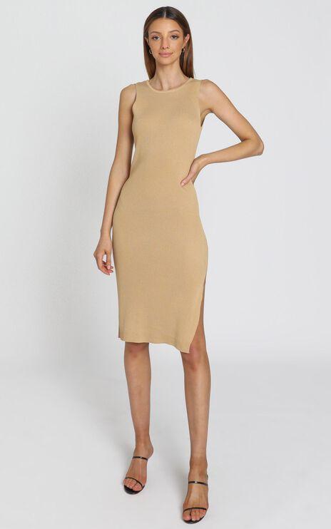 Callan Knit Dress in Mocha