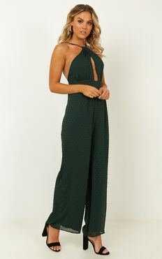 A Star Jumpsuit In Emerald