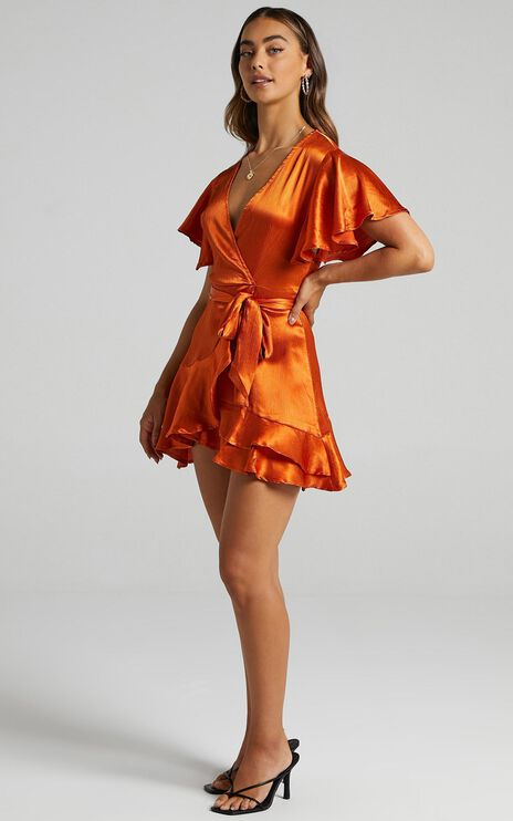 All I Want To Be Dress In Copper Satin