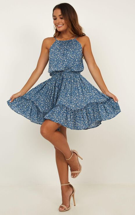 Shiloh Dress In Blue Floral