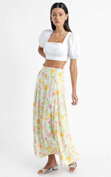 Stephens Skirt in Linear Floral