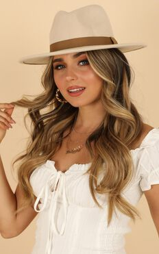 Maya Fedora Hat In Cream