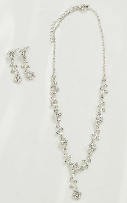 Go My Way Necklace And Earrings Set In Silver, , hi-res image number null