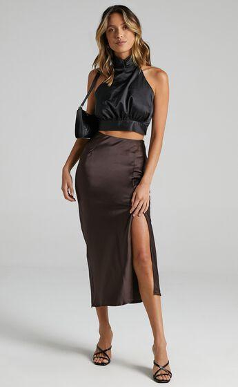 Diara Skirt in Dark Chocolate