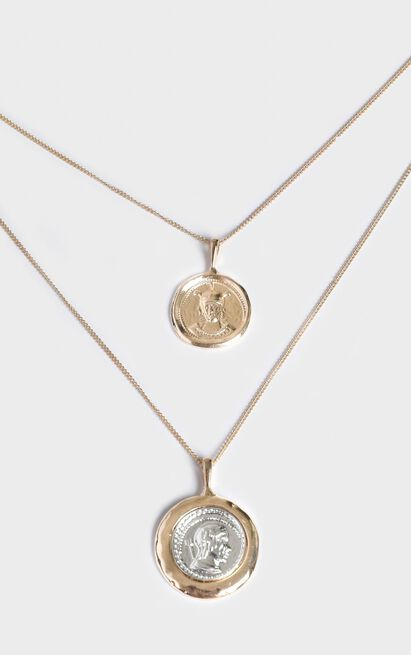 Lucky Charm Necklace In Gold, , hi-res image number null