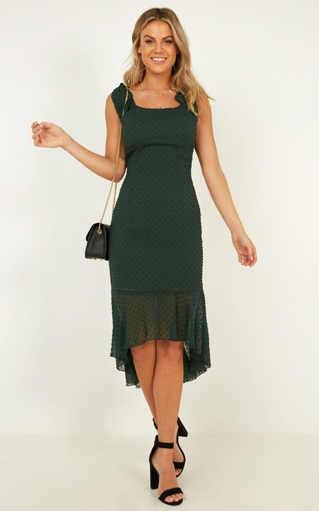 Turn To You Dress In Emerald