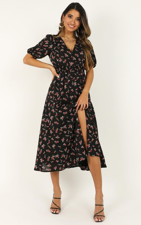 What Do You Want Dress In Black Floral