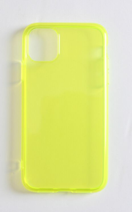 Fluro iPhone Case In Lime