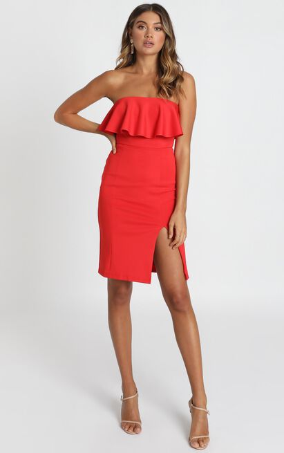 Pretty Vibes Dress in red - 14 (XL), Red, hi-res image number null