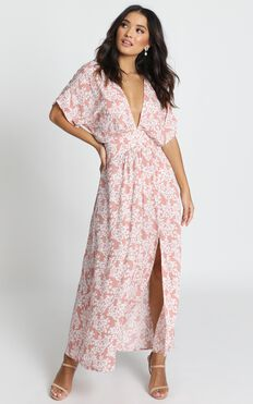 Hamptons Holiday Dress In Pink Floral
