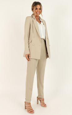 Corporate Vision Blazer In Beige