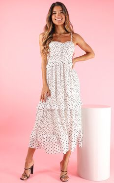 Greater Path Dress In White Spot