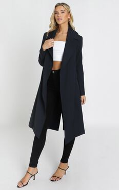 Back To the Start Coat In Navy