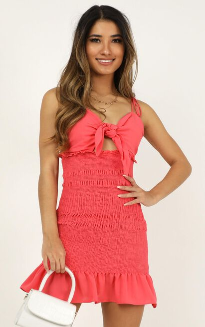 Kisses From You dress in hot pink - 12 (L), Pink, hi-res image number null