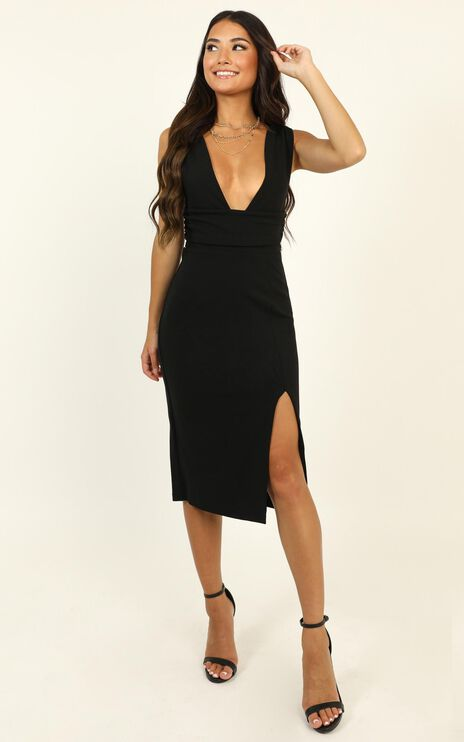 Dont Catch Feelings Dress In Black