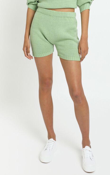 Becca Knit Shorts in Green
