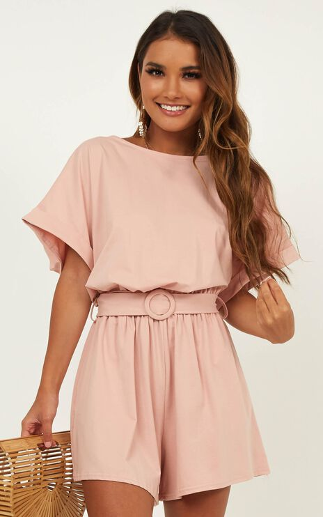 Summer Chills Playsuit In Blush
